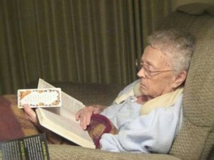 One of my indelible memories of my grandparents is of them turning off the TV in the evening and taking out their Bibles for a little while. Grandma continued doing this until she became to weak to do so. What a legacy of faith!